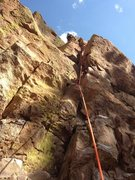 Rock Climbing Photo: A nice steep route - 10/17/2015.  Photo: P. Manley...