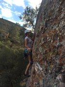 Rock Climbing Photo: Hilary leading Thrill Hammer