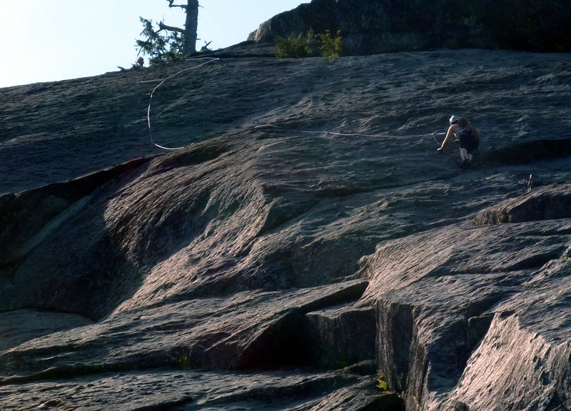 Rock Climbing Photo: This outstanding pitch has great exposure and wild...