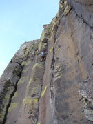 Rock Climbing Photo: so so happy to be nearing the chains... until i fo...