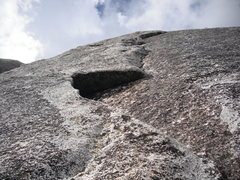 Rock Climbing Photo: I went left at this mini-roof. It seemed like the ...