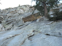 Rock Climbing Photo: The big dihedral and roof that form the first pitc...