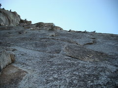 Rock Climbing Photo: Looking up at the second and third pitches. I bega...