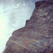 Rock Climbing Photo: Nearing the anchor.