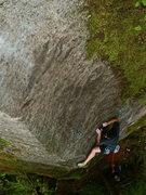 Rock Climbing Photo: Chandler Davis on the crux.