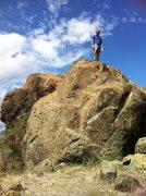 Rock Climbing Photo: Top it up,,, Boulder grade unknown...sxm