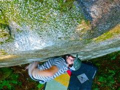 Rock Climbing Photo: Kuba going for the finish.