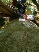 Rock Climbing Photo: Michal R. on the FA.