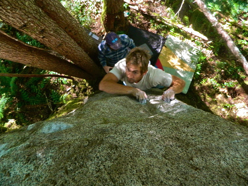 Rock Climbing Photo: Michal R. pulling the crux.