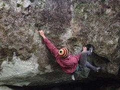 Rock Climbing Photo: Chandler Davis on the FA.
