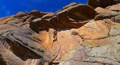 Rock Climbing Photo: Nearing Little Edward's Little Overhang.