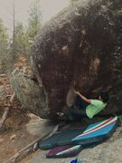 Rock Climbing Photo: Michael Madsen first couple of moves.