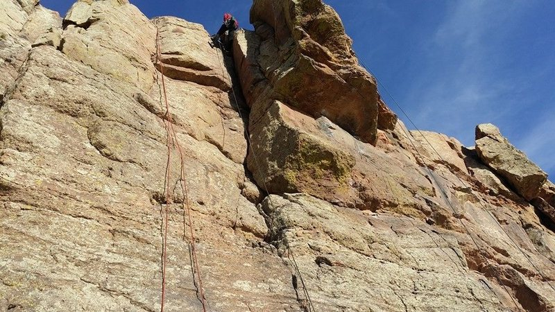 Rock Climbing Photo: Looking up corner climb