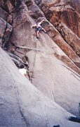 Rock Climbing Photo: Myself having a go on the FA and George Smith bela...