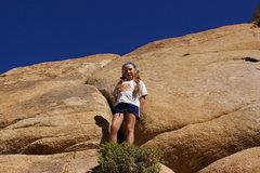Rock Climbing Photo: Luna on pitch two.