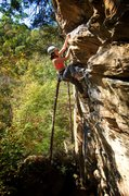 Rock Climbing Photo: Good holds after the crux. October 2015.