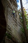 Rock Climbing Photo: A thinner start down low leads to steeper and more...