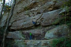 Rock Climbing Photo: Getting started on The Cough. October 2015.