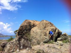 Rock Climbing Photo: Rolling ball... Boulder