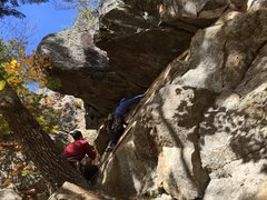 Rock Climbing Photo: Starting up it