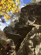 Rock Climbing Photo: Pretty much in the clear, cruising up the 5.9- por...