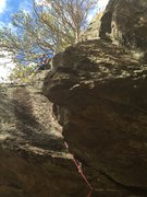 Rock Climbing Photo: Clipping into the chains on my first all gear prot...