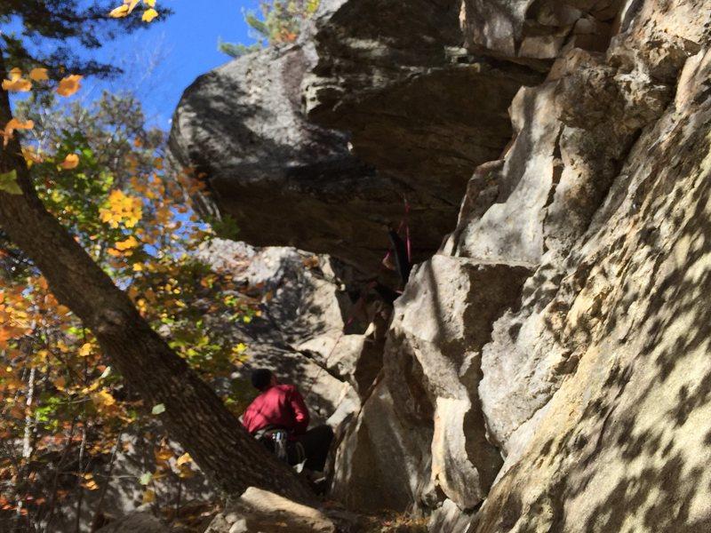 Rock Climbing Photo: Bonus photo, taking the sideways fall out of the c...