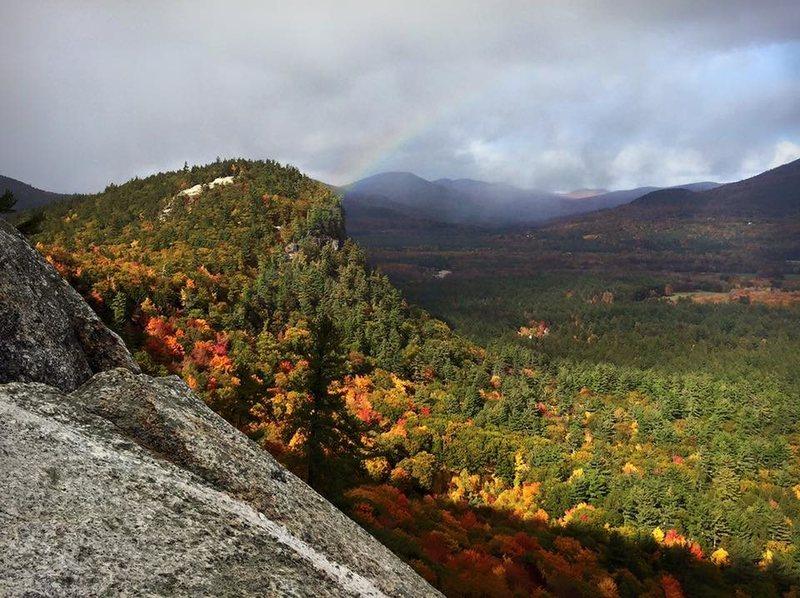 Rock Climbing Photo: Rainbow and foliage!