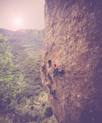 Rock Climbing Photo: Kristin Baca on sighting Geezer