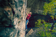 Rock Climbing Photo: Jonny Running Laps on RFR warming up for the day. ...