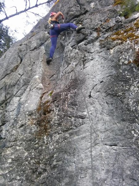 First lead climb on Wussy Boy