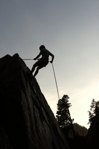 My first rappel.