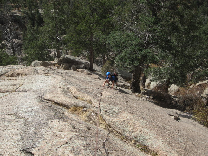Looking down the 3rd pitch.