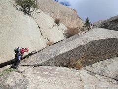 Rock Climbing Photo: Rebecca Ruttenburg and John Peterson on the 4th pi...