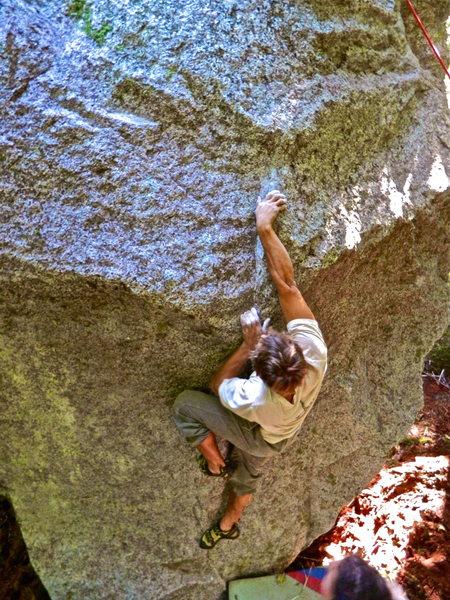 Rock Climbing Photo: Mike on The Holy Mackerel