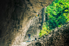 Rock Climbing Photo: Merto on Malvado.  6D Ziess 50mm 1.4