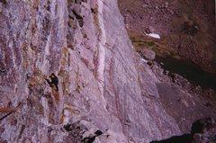 Rock Climbing Photo: P3 traverse off Direct Start, Ellingwood Ledges, 2...