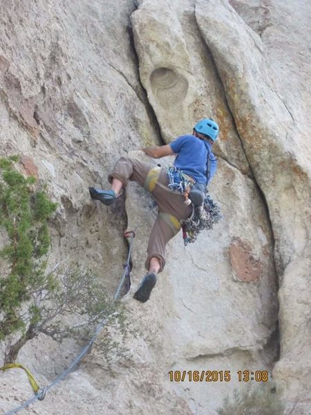 Rock Climbing Photo: Me on the FA!