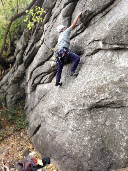 Rock Climbing Photo: John following F7.
