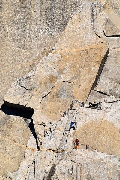 Rock Climbing Photo: Pat Heddins and Ferris Kilpatrick below the Texas ...