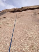 Rock Climbing Photo: A rope hanging in the line.