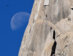 "Rock Climbing Photo: Another great ""moon day"" shot by the gre..."