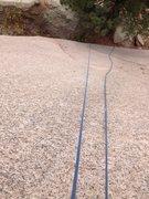Rock Climbing Photo: Looking down at 2nd Sea Serpent bolt.