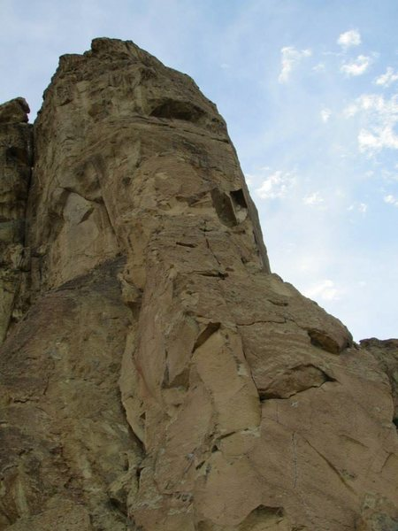 Rock Climbing Photo: This shows the whole route of Thin Air.