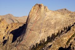 Rock Climbing Photo: Both routes on the South Face of Cherubim Dome:  B...
