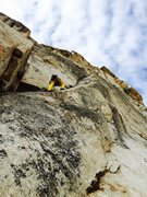 Rock Climbing Photo: Myles Moser leading P1 of the DNR