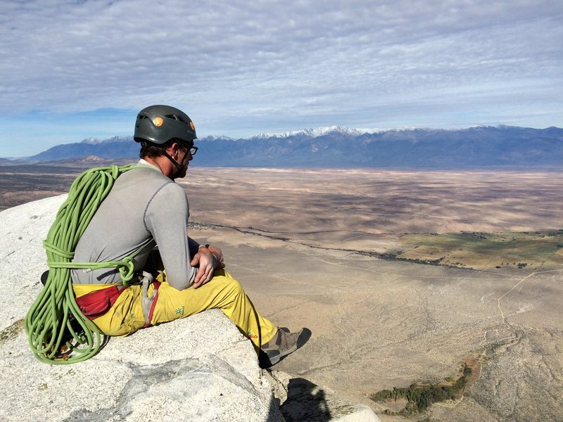 Rock Climbing Photo: Big views of the Owens Valley and Owens River Gorg...