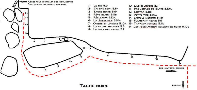 Tache noire<br> (voies/routes)
