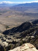 Rock Climbing Photo: Looking down to Rovana from the summit of Hot Tuna...