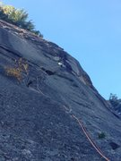 Rock Climbing Photo: Nick Navigating the second pitch